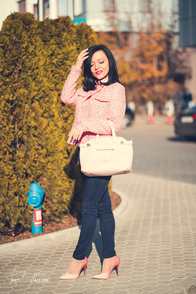 kameliya anastasova fashion blogger pink spring outfit