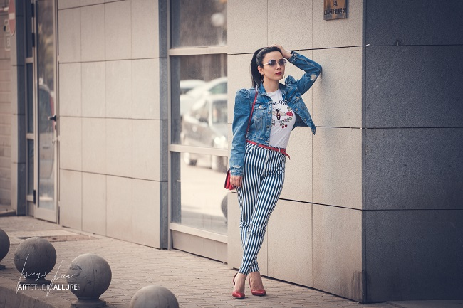 all in denim outfit fashion blogger kameliya anastasova