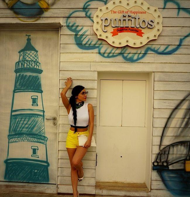 Beach style: Кроп топ и къси панталонки