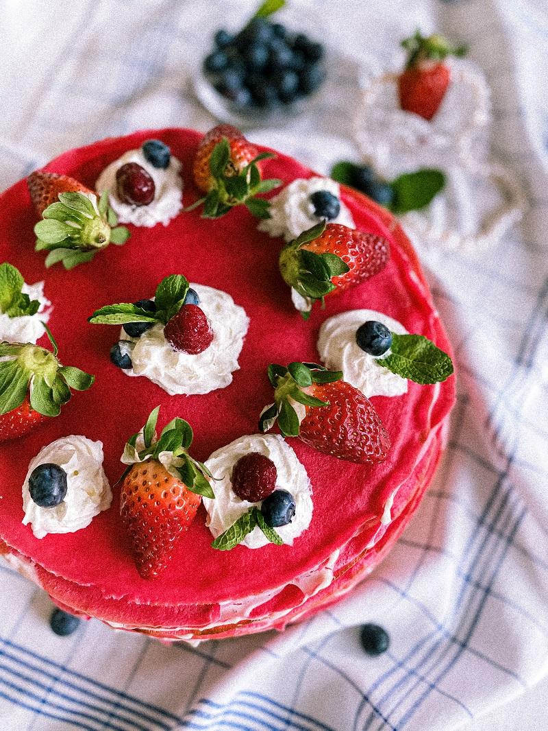 палачинкова торта червено кадифе